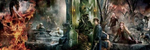 El Hobbit la Batalla de los 5 ejércitos Banner principal