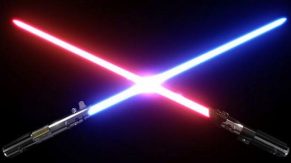 Star Wars VII duelo sables luz destacada