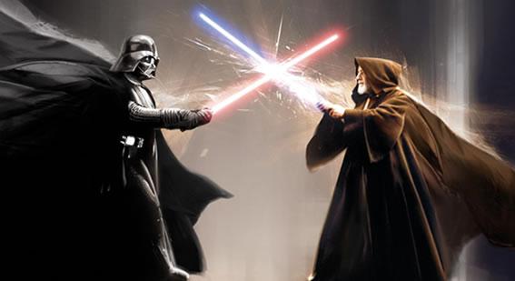 Star Wars VII duelo sables luz principal