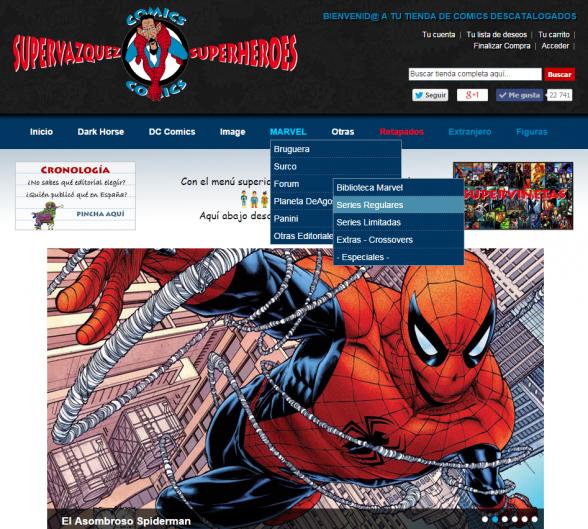 Supervázquez página web menú