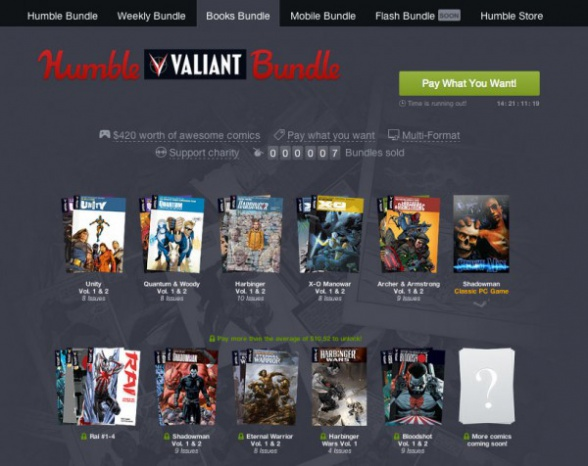 Valiant Humble bundle