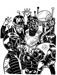 robots tatuados