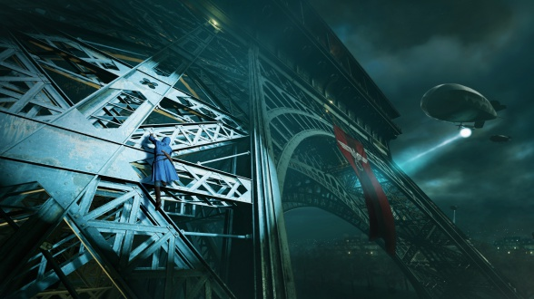 ACU_TA_Climbing_Eiffel_Tower_ searchlights
