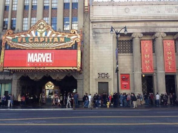 Marvel Event - Exterior cine El Capitan