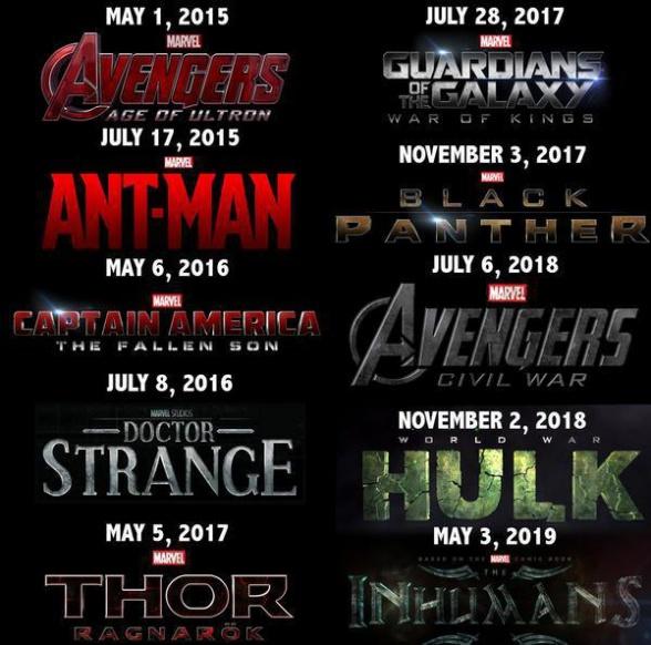 Posibles estrenos Marvel Fase 3