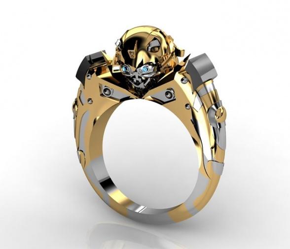 Lleva a Bumblebee en tu mano con este anillo de oro y diamantes