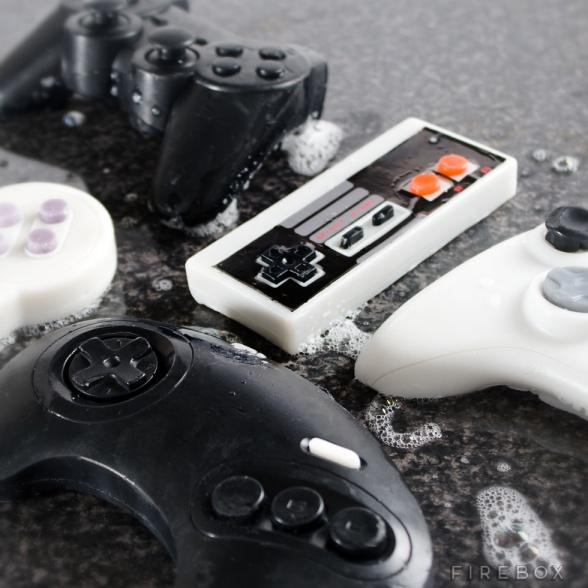 Jabón de manos con forma de 'gamepad'