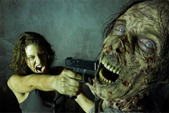the walking dead Maggie3 zombi