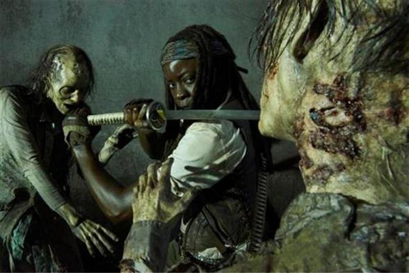 the walking dead Michonne zombi
