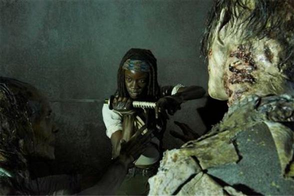 the walking dead Michonne2 zombi