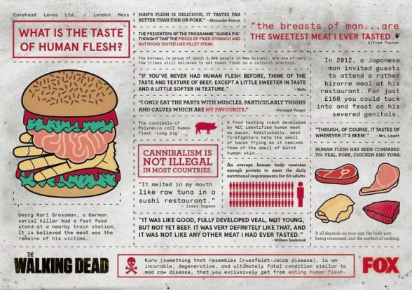 Hamburguesa 'The Walking Dead', con sabor a carne humana