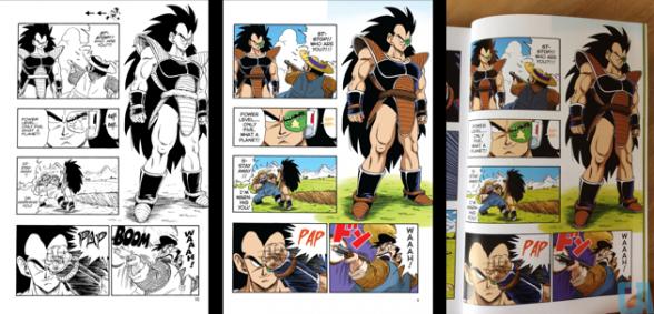 Comparativa realizada por Comics Alliance
