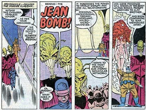 Jean Grey desnuda en 'Uncanny X-Men'