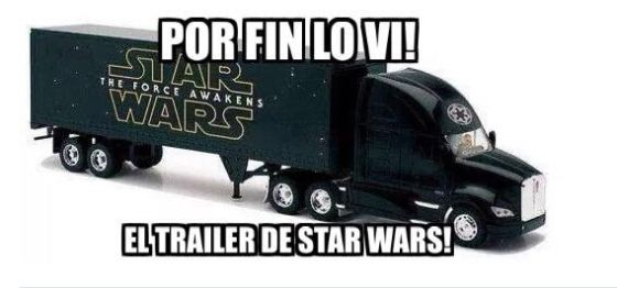 Star Wars the Force awakens tráiler meme