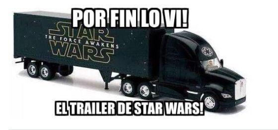 Star Wars the Force awakens tráiler meme