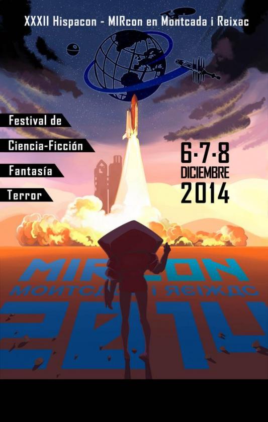 Cartel de la MIRcon (XXXII Hispacón) organizada por Urânik en Montcada i Reixac