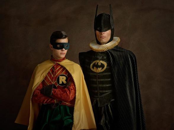 renaissance cosplay batman and robin