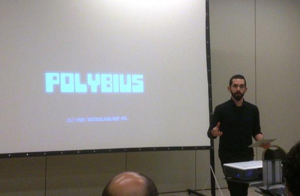 Francisco Jota-Pérez hablando de hiperstición en la MIRcon (sábado 6)