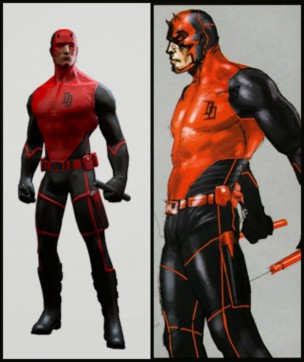 Daredevil black and red costume 04