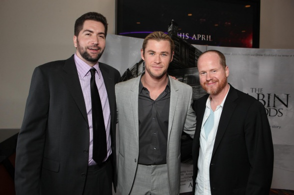 Drew Goddard, Chris Hemsworth y Joss Whedon