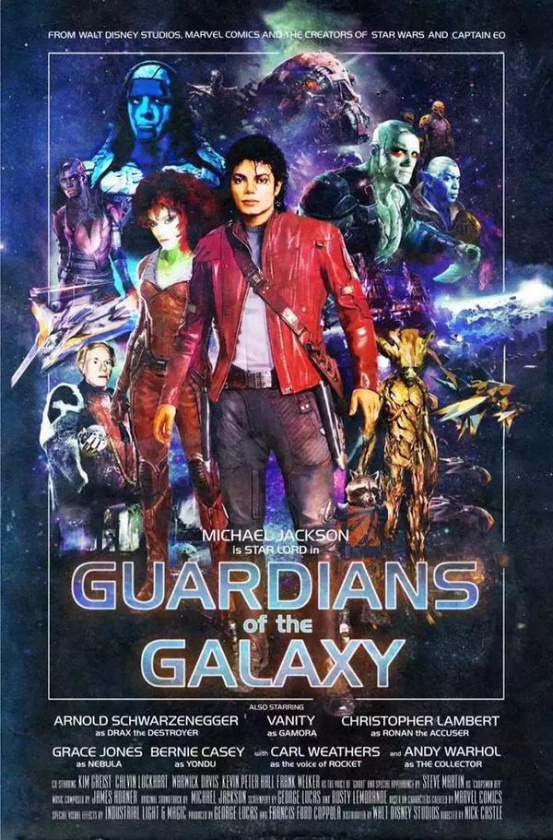 Póster Guardianes de la Galaxia Michael Jackson