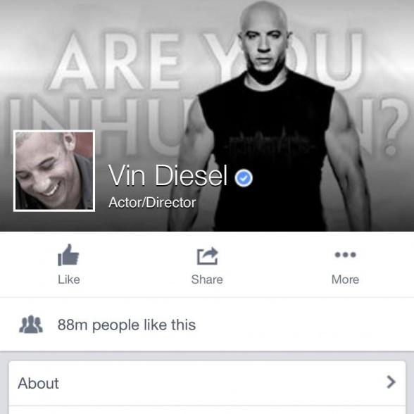 Vin Diesel - Facebook - Inhuman