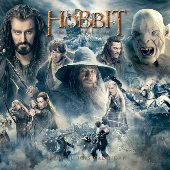el hobbit calendario 2015