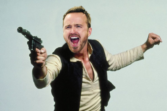 Aaron Paul como Han Solo