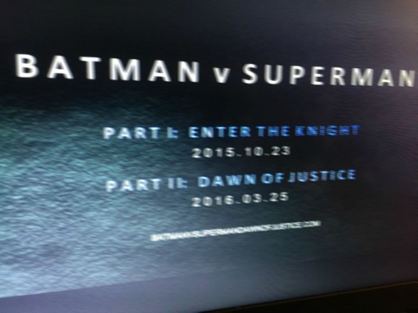Batman V Superman dos partes