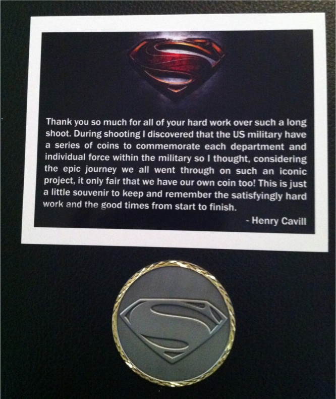 Henry Cavill Monedas Batman V Superman Man of steel