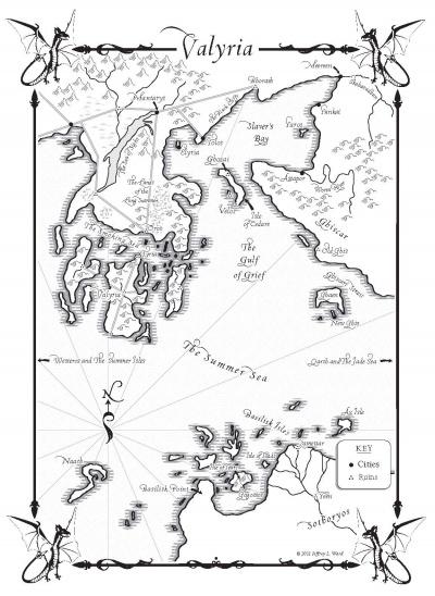 Mapa de Valyria