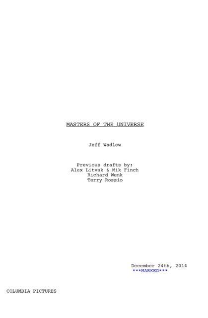 Masters del universo termina el guión 02