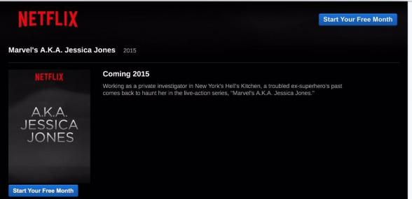 Netflix - Jessica Jones update