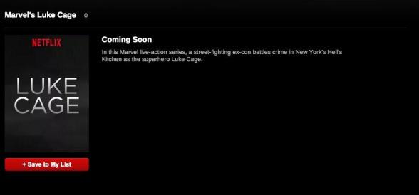 Netflix - Luke cage update
