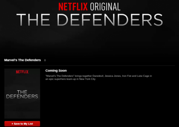 Netflix - The Defenders update