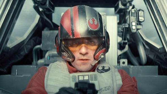 Oscar Isaac en'Star Wars: El Despertar de la Fuerza'