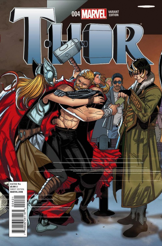 Welcome Home variant cover 18 - Thor 4