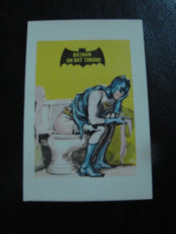 carta extra rara batman lavabo