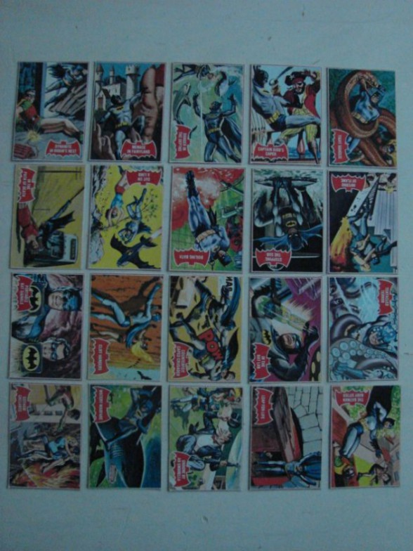 coleccion cartas coleccionables batman topps 1966