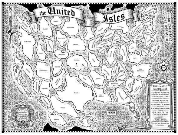 El mapa del archipiélago de los Estados Unidos