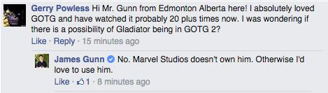 La respuesta de James Gunn
