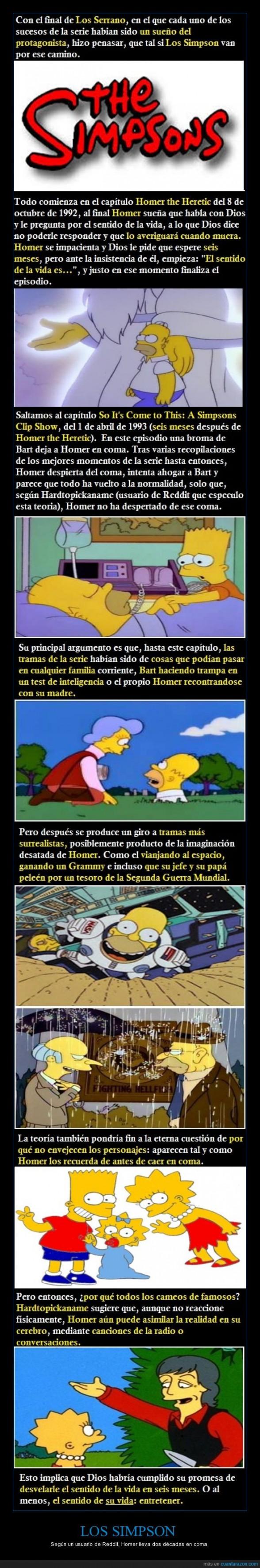 'Los Simpson' podrían ser un sueño de Homer
