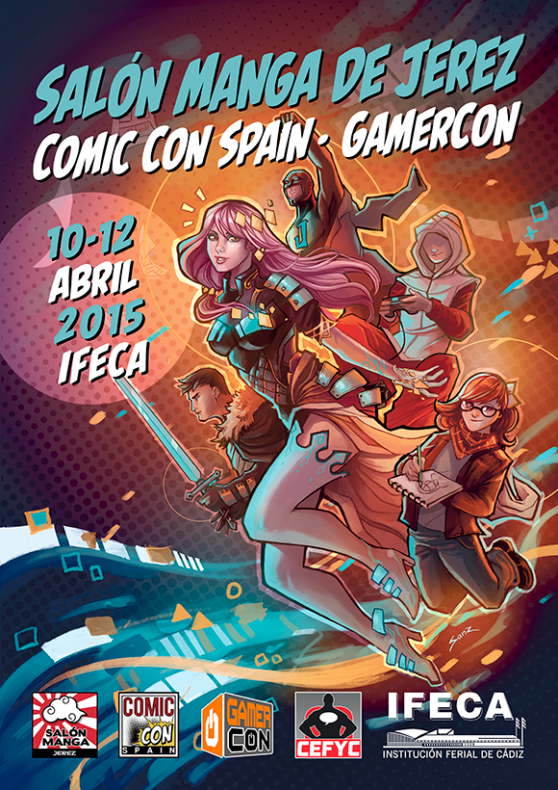 Cartel Salón Manga Jerez y Comic Con Spain
