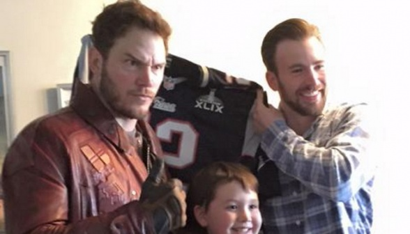 Chris pratt y Chris Evans en Christopher's Haven