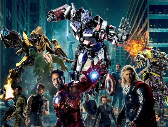 Fan Made Transformers Marvel DC