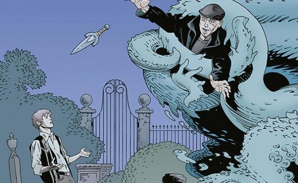 Libro cementerio comic cover