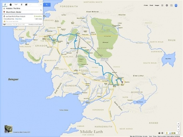 Tierra Media Google Maps