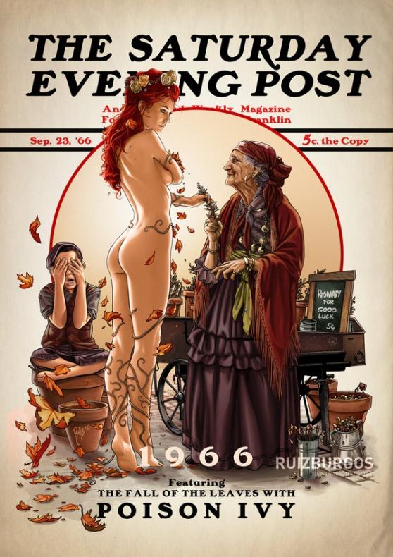 Héroes y villanos de DC Comics como portadas de 'The Saturday Evening Post'