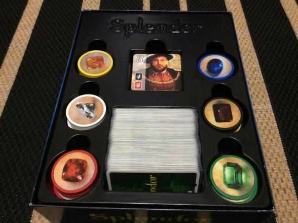 splendor juego de mesa caja componentes