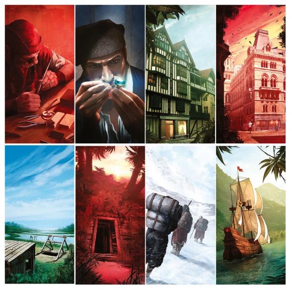 Ilustraciones del juego.
